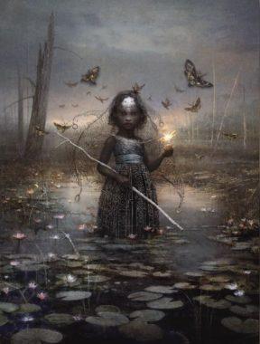 沼地の少女(MTG「統率者2018」新規アート)