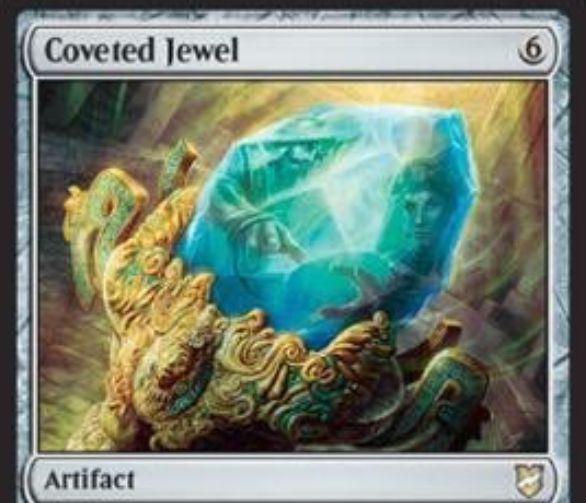 【統率者2018】アーティファクト「Coveted Jewel」が公開!6マナで出して3ドロー!タップで好きな色マナを3点生産!ただし、相手に奪われるリスクも!