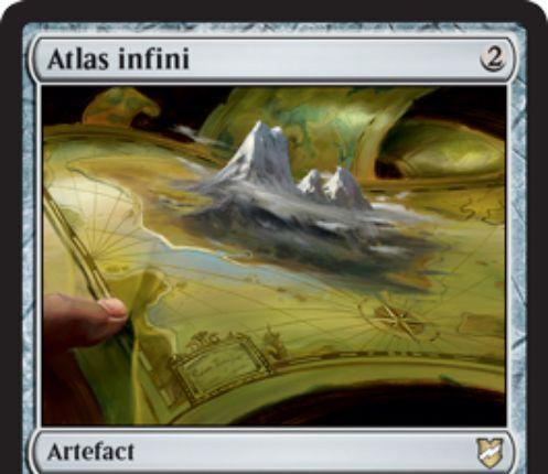 【統率者2018】アーティファクト「Infinite Atlas」が公開!3個以上の同名土地が戦場にあれば、2マナ&タップでドローが可能!