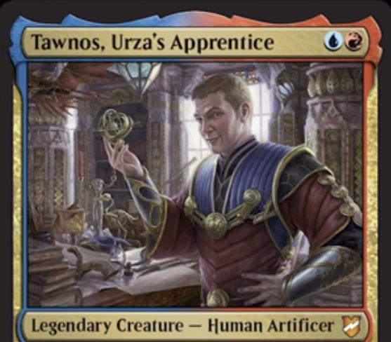 【統率者2018】青赤の伝説神話工匠「Tawnos, Urza's Apprentice」が公開!2マナ1/3速攻&青赤・タップでアーティファクトの起動型か誘発型能力をコピー!