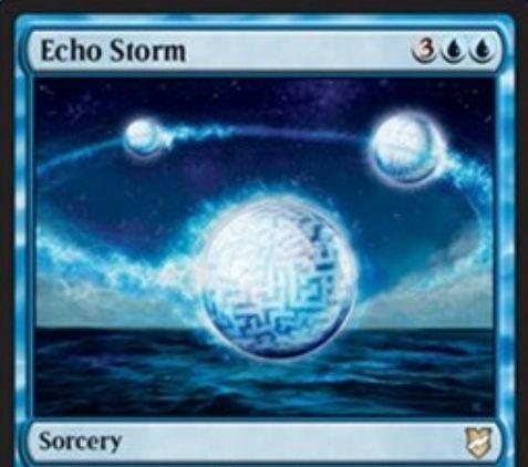 【統率者2018】青ソーサリー「Echo Storm」が公開!青青3でアーティファクトのコピーを生成!また、このカードはあなたが統率者を唱えた回数だけコピーされる!