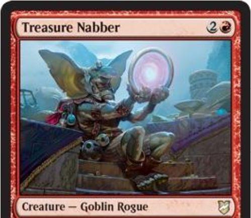 【統率者2018】ならず者ゴブリン「Treasure Nabber」が公開!3マナ3/2&相手がマナ目的でアーティファクトをタップしたら、それを次の自ターン終了時まで強奪する!