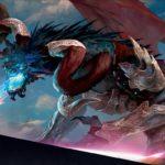 基本セット2019の神話レア枠に全5種収録される 3色の伝説エルダー・ドラゴン・サイクル の1体で、攻撃のたびに全プレイヤーのパーマネントを1つずつ指定して生贄に捧げさせつつライブラリートップのパーマネントを戦場に出す能力が誘発する、ジャンド・カラーの一枚です!