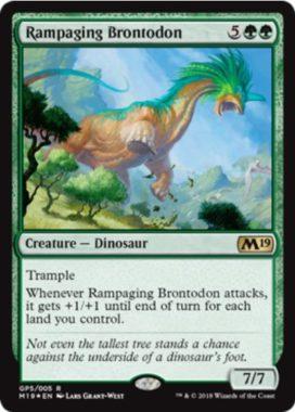Rampaging Brontodon(MTG「Gift Pack 2019」収録)