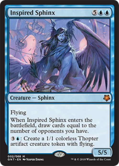 Inspired Sphinx(MTG「Magic Game Night」新規収録)