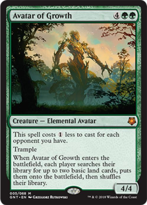 Avatar of Growth(MTG「Magic Game Night」新規収録)