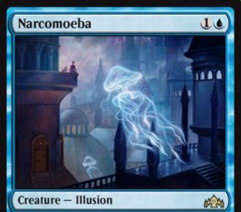 【ラヴニカのギルド】ナルコメーバ(Narcomoeba)が新規アートで再録!レアリティはアンコモンからレアに格上げ!(高画質版)