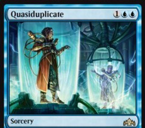 【ラヴニカのギルド】青ソーサリー「Quasiduplicate」が公開!青青1で自軍クリーチャーのコピーを生成!能力「Jump-start」で墓地から再利用も可能!