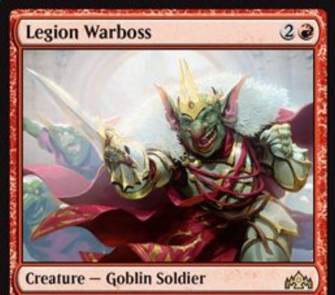 【ラヴニカのギルド】赤ゴブリン「Legion Warboss」が公開!3マナ2/2「Mentor」&戦闘開始時に赤で速攻持ちの1/1ゴブリン(攻撃強制)を生成するゴブリン兵士!