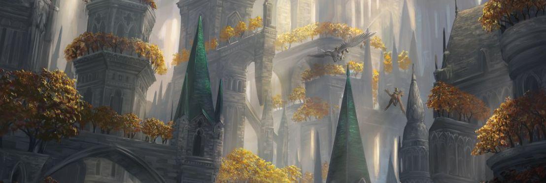 森(収録:ギルド・キット セレズニア)が公開!樹木生い茂る建造物のアート!テキスト枠にも「セレズニア」をイメージしたデザイン!
