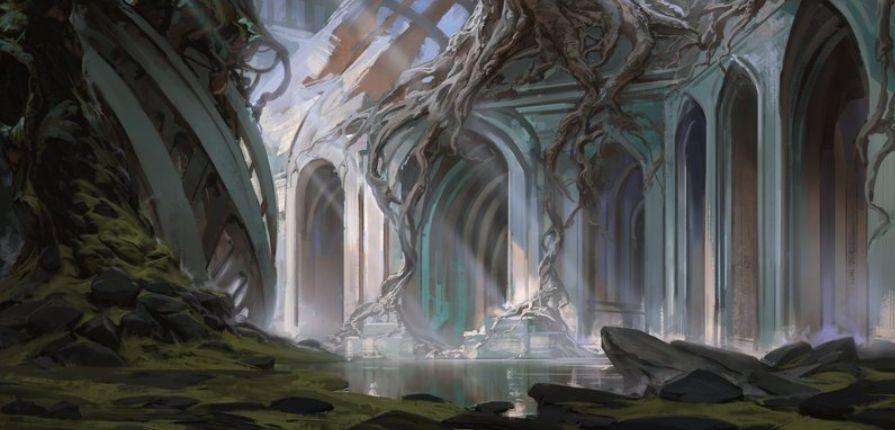 沼(収録:ギルド・キット ディミーア)が公開!光が差し込む地下都市のアート!テキスト枠も「ディミーア」をイメージしたデザインが追加!