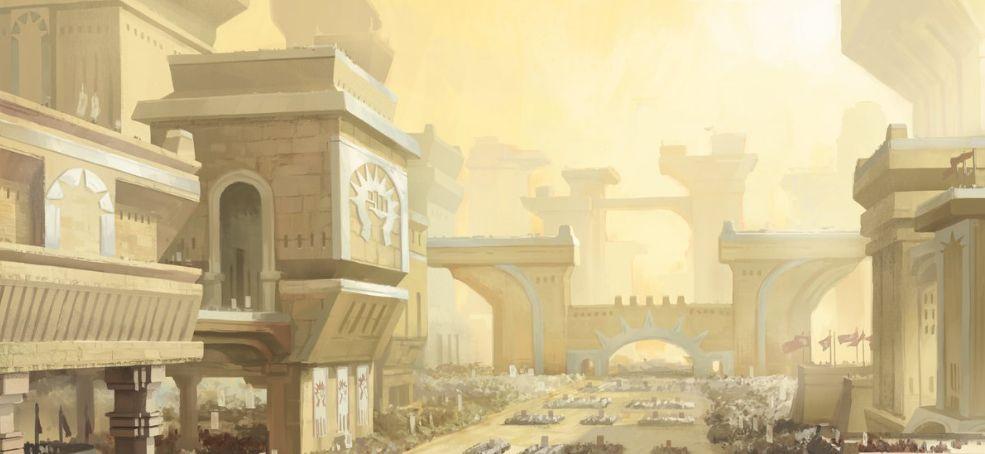 平地(収録:ギルド・キット ボロス)が公開!城塞に統率された兵士達が並んだアート!テキスト枠もボロス仕様に!