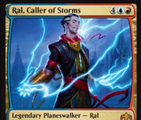 【ラヴニカのギルド】PWデッキ収録のラル「Ral, Caller of Storms」が公開!6マナ初期忠誠4で、【+1】1ドロー【-2】3点の分割ダメージを好きな対象へ飛ばす【-7】7ドロー&相手の全クリーチャーに7点ダメージの能力を持つイゼット・プレインズウォーカー!