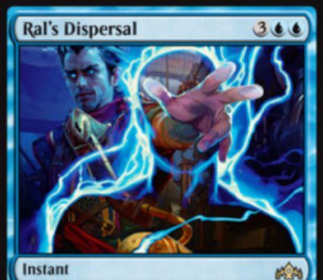 【ラヴニカのギルド】PWデッキ限定の青インスタント「Ral's Dispersal」が公開!青青3でクリーチャー1体をバウンスしつつ、「Ral, Caller of Storms」をライブラリーからサーチする!