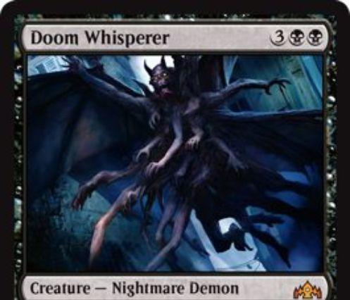 【ラヴニカのギルド】黒神話生物「Doom Whisperer」が公開!5マナ6/6飛行・トランプル&ライフ2点を支払えば「諜報2」できるナイトメア・デーモン!