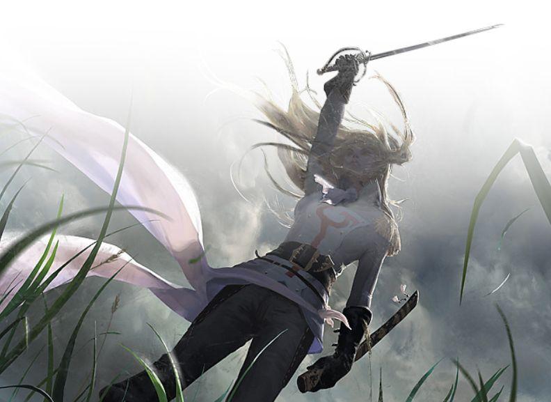 スリーブスレイベンの守護者サリア闇の隆盛のmtg公式スリーブが
