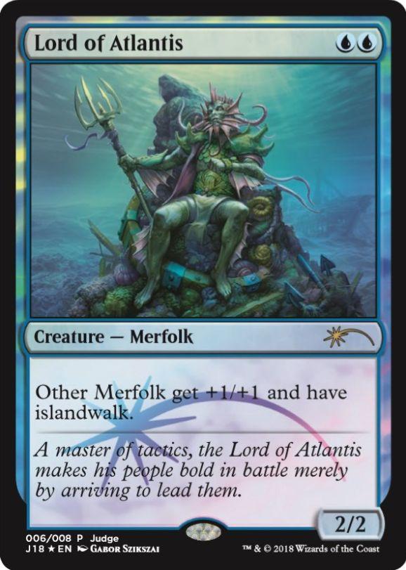 アトランティスの王(Lord of Atlantis)の新規アート版カード(ジャッジ褒賞プロモ)