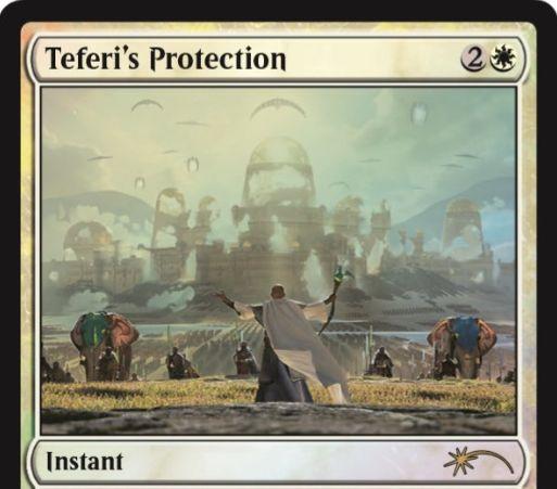 ジャッジ褒章プロモ版「テフェリーの防御/Teferi's Protection」が公開!MTG「統率者2017」からの再録!