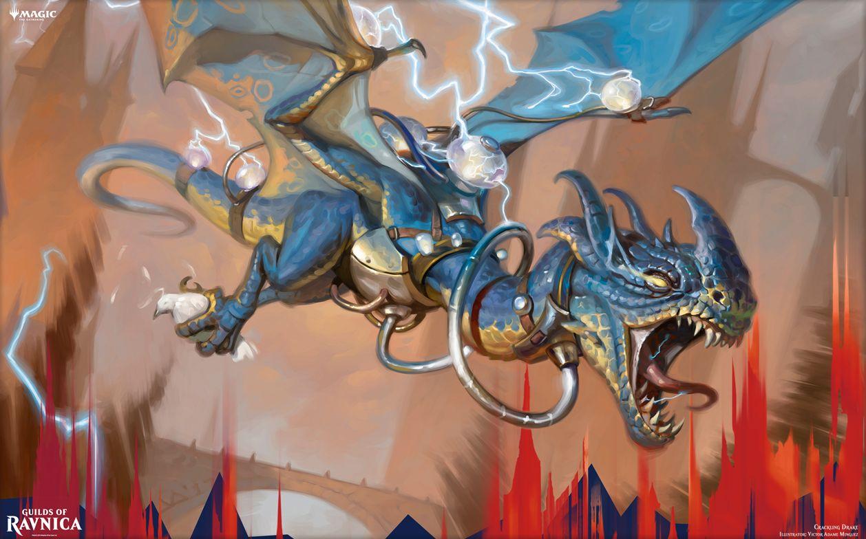 【アート】弾けるドレイク(ラヴニカのギルド)がMTG公式壁紙のラインナップに追加!イゼット・ギルドに属する超パワーに成長するドレイク!