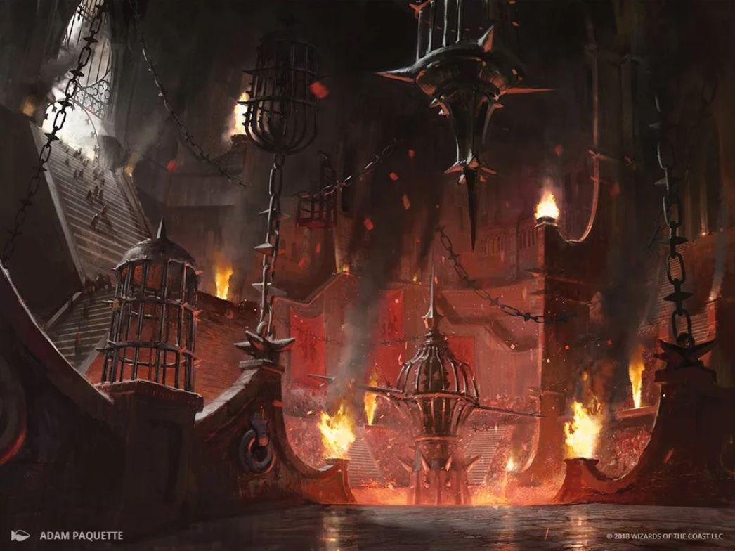 【ラヴニカの献身】血の墓所(Blood Crypt)の新規アートが公開!ラクドスのギルドランド!
