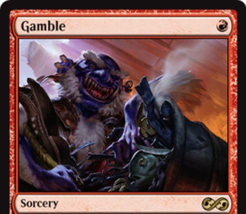 【アルティメットマスターズ】ギャンブル(Gamble)が新規イラストで再録決定!
