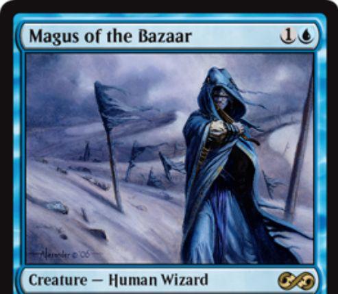 【アルティメットマスターズ】バザールの大魔術師(Magus of the Bazaar)が「次元の混乱」より再録!