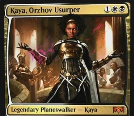 【ラヴニカの献身】新ケイヤ「Kaya, Orzhov Usurper」が公開!オルゾフ3マナで初期忠誠値3を持つ伝説のプレインズウォーカー!