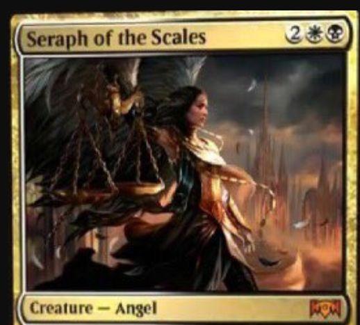 【ラヴニカの献身】オルゾフの神話天使「Seraph of the Scales」が公開!4マナ4/3飛行&死後2&白マナで警戒を、黒マナで接死を得るクリーチャー!