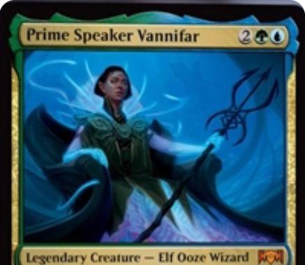 【ラヴニカの献身】シミックの神話生物「Prime Speaker Vannifar」が公開!4マナ2/4で「出産の殻」を内蔵する伝説のエルフ・ウーズ・ウィザード!