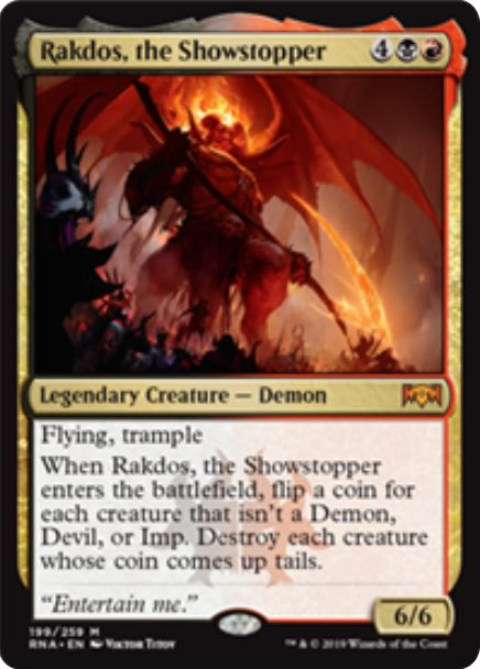 Rakdos, the Showstopper(ラヴニカの献身)英語版