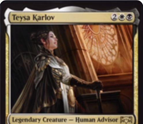 【ラヴニカの献身】テイサ・カルロフ(Teysa Karlov)が公開!オルゾフのキーワード能力「死後」の効果を高める伝説の人間アドバイザー!