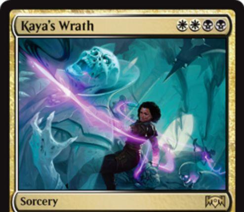 【ラヴニカの献身】オルゾフの全体除去「Kaya's Wrath」が公開!白白黒黒で全クリーチャーを破壊し、破壊した自軍クリーチャーの数だけライフゲインする白黒ソーサリー!