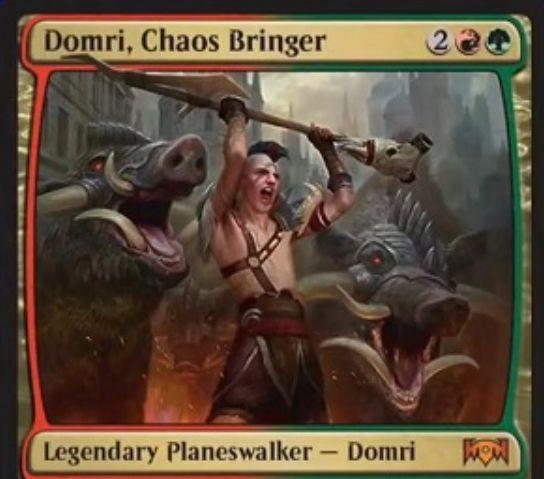 【ラヴニカの献身】新ドムリ「Domri, Chaos Bringer」が公開!4マナで初期忠誠値5を持つグルールのプレインズウォーカー!