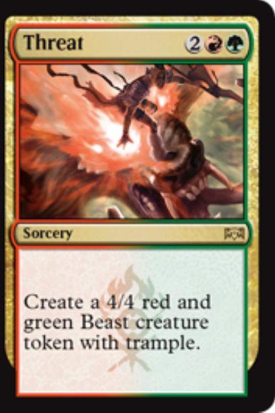 Threat(ラヴニカの献身)カード画像