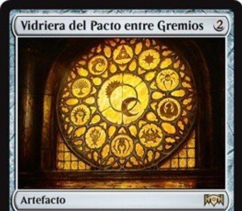 【ラヴニカの献身】レアのアーティファクト「Window of the Pact between Guilds」が公開!2マナで設置し、自軍の多色クリーチャーを+1/+1する!
