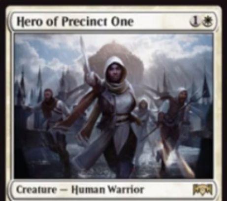 【ラヴニカの献身】白レア生物「Hero of Precinct One」が公開!あなたが唱える多色呪文に反応して白の1/1人間トークンを生成する白の人間・戦士!