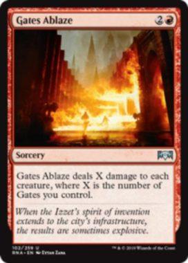Gates Ablaze(ラヴニカの献身)