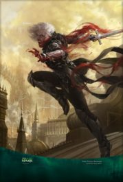 【アート】復讐に燃えた血王、ソリン/Sorin, Vengeful Bloodlord(灯争大戦)スマホ壁紙