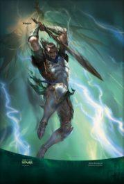 【アート】黒き剣のギデオン/Gideon Blackblade(灯争大戦)スマホ壁紙