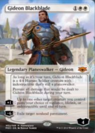 Gideon Blackblade(灯争大戦 Mythic Edition)収録