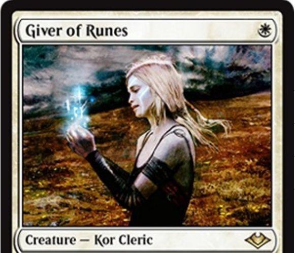 【モダンホライゾン】白レアのクレリック人間「Giver of Runes」が公開!モダン環境に対応した《ルーンの母》!