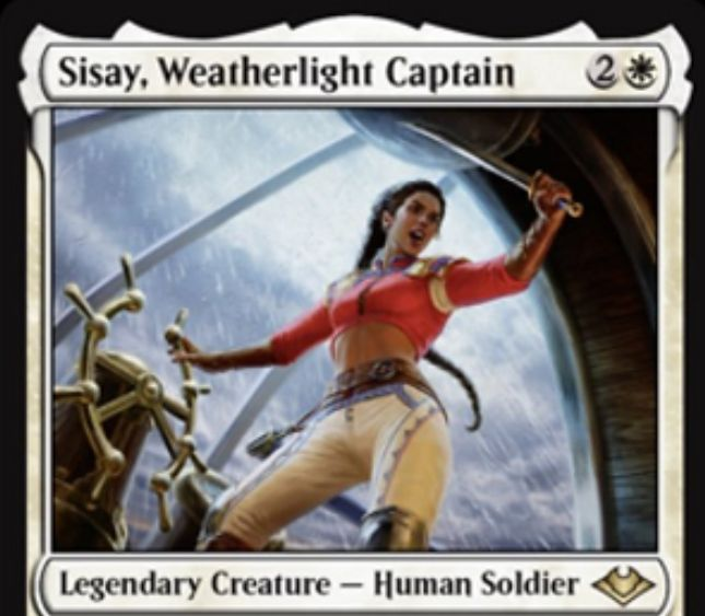 【モダンホライゾン】新シッセイ「 Sisay, Weatherlight Captain」が公開!モダン環境の《艦長シッセイ》リメイク!
