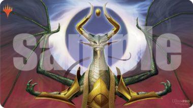 龍神、ニコル・ボーラス(Nicol Bolas, Dragon-God)プレイマット:イラスト 開田裕治さん