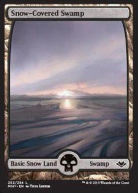 冠雪の沼/Snow-Covered Swamp:モダンホライゾン・フルアート