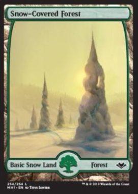 冠雪の森/Snow-Covered Forest:モダンホライゾン・フルアート