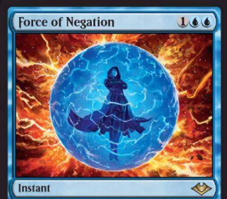 【モダンホライゾン】青レアのインスタント「Force of Negation」が公開!ピッチ・コストでも唱えられる、非クリーチャー呪文を打ち消すカウンター!