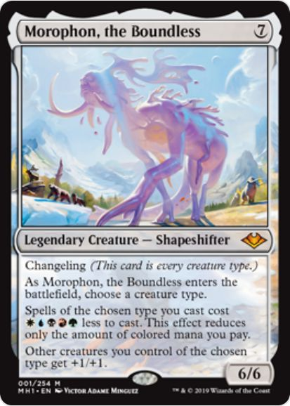 Morophon, the Boundless(モダンホライゾン)