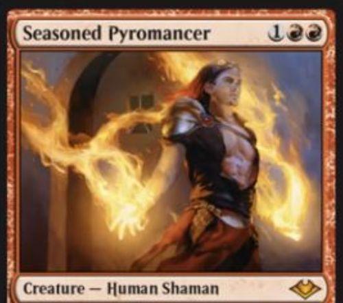 【モダンホライゾン】赤神話の人間シャーマン「Seasoned Pyromancer」が公開!3マナ2/2&2種類の方法でエレメンタル・トークンを生成!