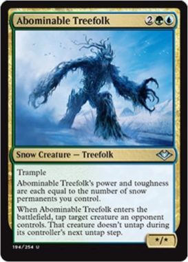 Abominable Treefolk(モダンホライゾン)