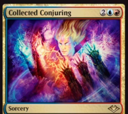 【モダンホライゾン】青赤のソーサリー「Collected Conjuring」が公開!ライブラリートップ6枚を追放し、その中から3マナ以下のソーサリー2枚までをノーコストで唱えられるソーサリー版の《集合した中隊》!